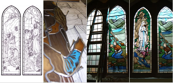 The Glass House - Stained Glass Window Process